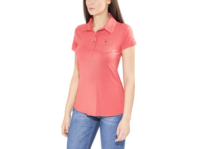 Columbia Spring Drifter Polo Femme, sunset red
